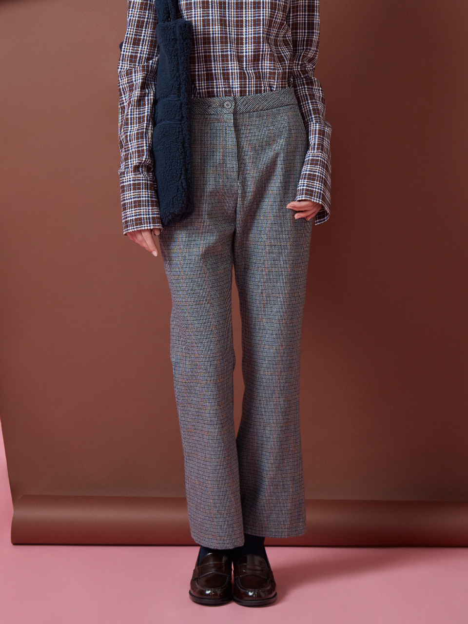 17FW BELL BOTTOM PANTS_BROWN