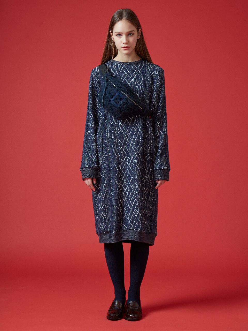 17FW FOREVER TWINE KNIT DRESS