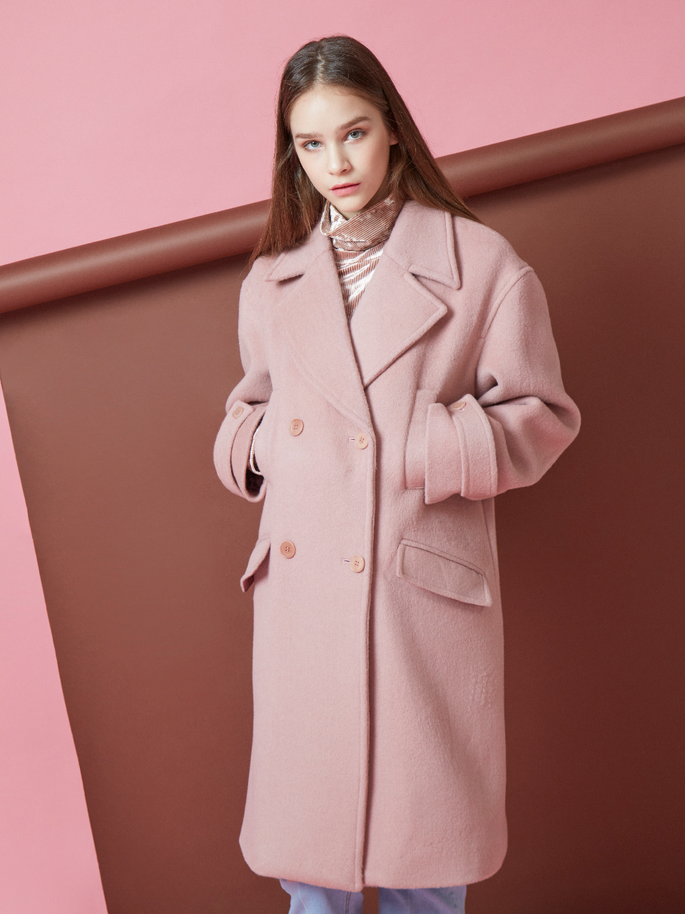 17FW FOREVER DOUBLE COAT_PINK