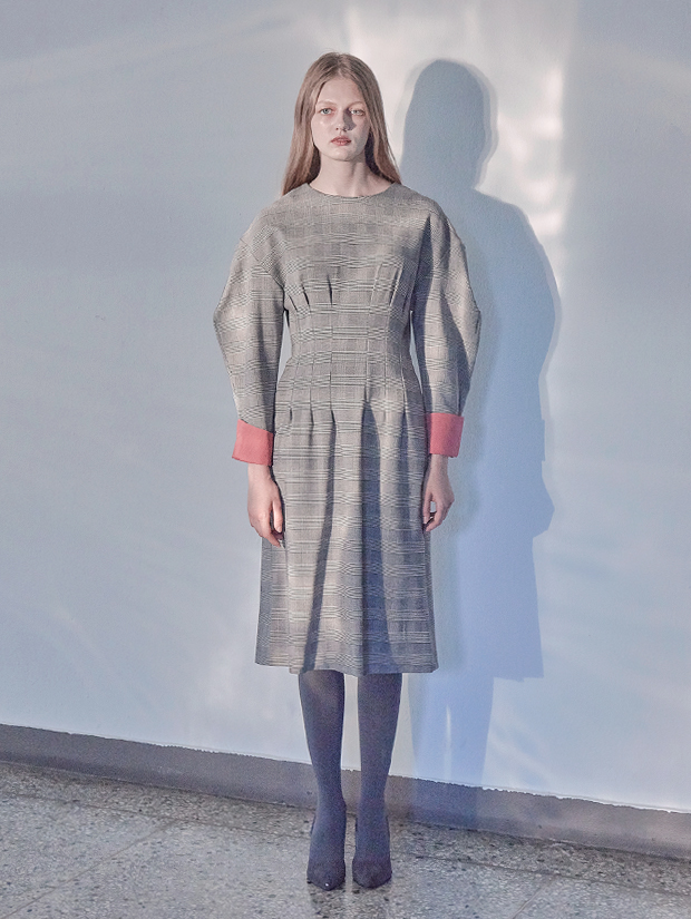 18FW GLEN CHECK DRESS