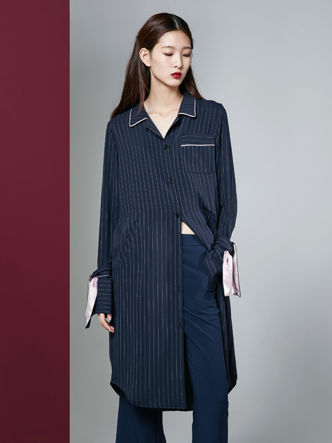 [30%] 16FW PAJAMA SHIRT DRESS