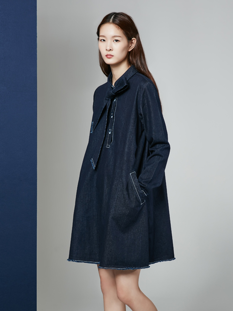 16FW DREAMER RIBBON DENIM DRESS