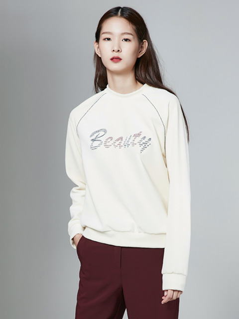 [30%] 16FW BEAUTY VELVET SWEAT TOP_IVORY