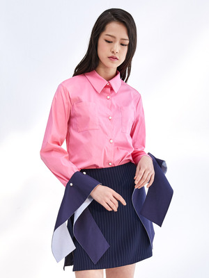 17SS DETACHABLE CUFFS SHIRT_PINK