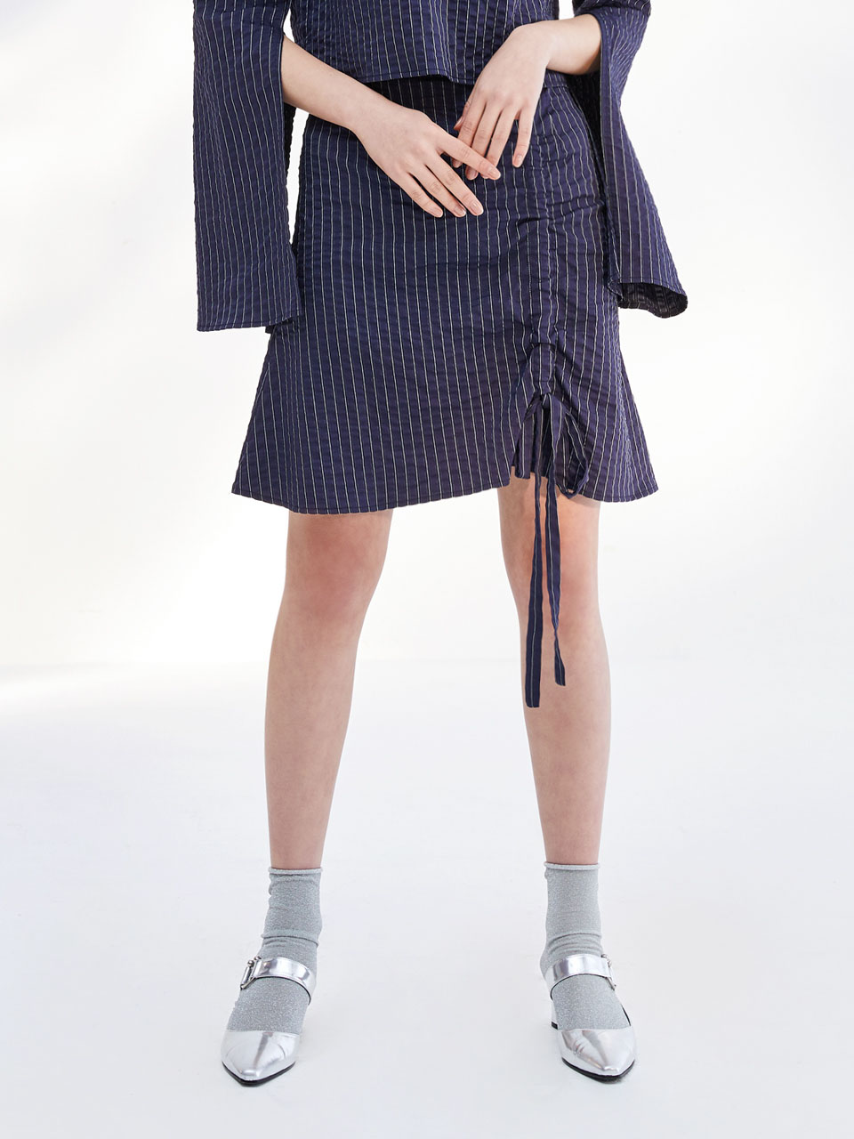 17SS SEERSUCKER SHIRRING SKIRT