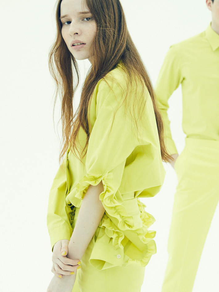17FW FRILLED SLEEVE SHIRT