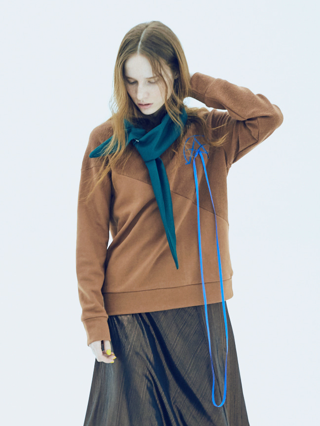 17FW ALPHA OMEGA SWEATSHIRT_BROWN