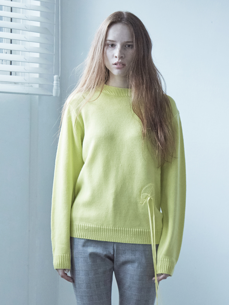 17FW ALPHA OMEGA KNIT TOP_LIME