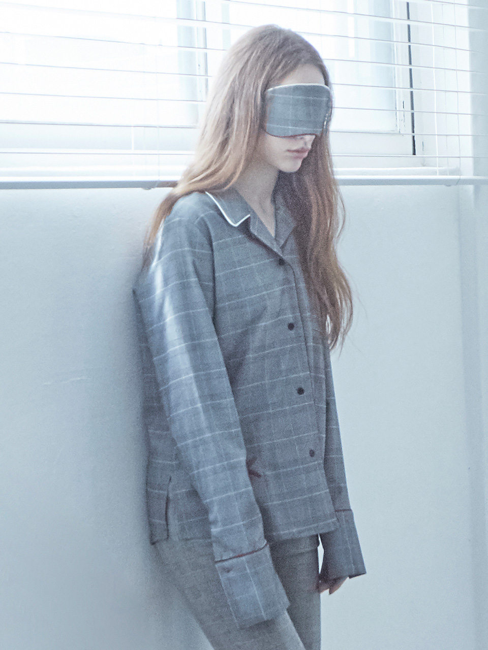 17FW K PAJAMA SHIRT_GREY CHECK