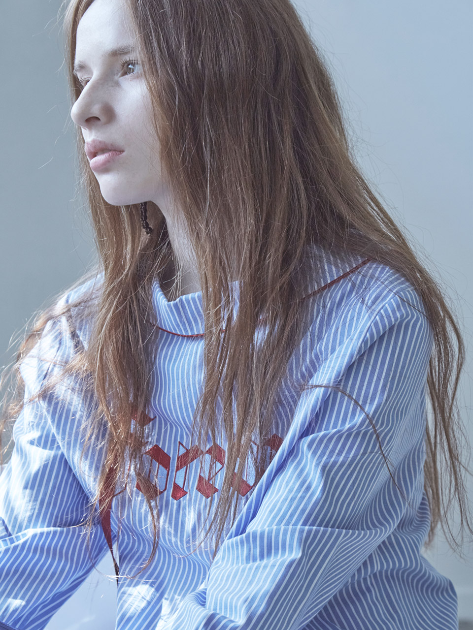 17FW FOREVER RIBBON PAJAMA SHIRT_BLUE