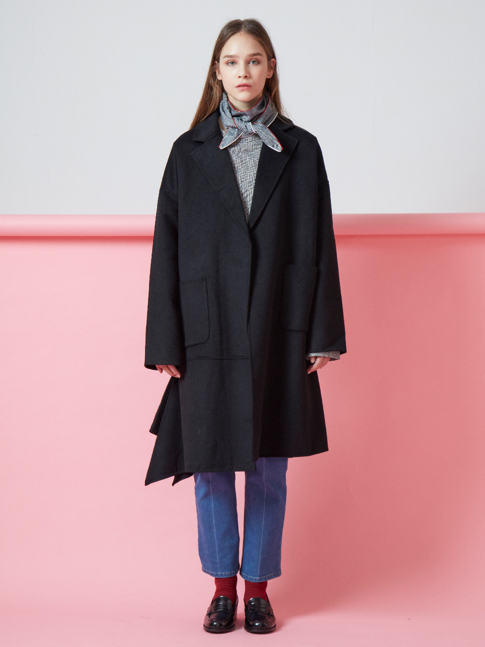 17FW DRAPED HANDMADE COAT_BLACK
