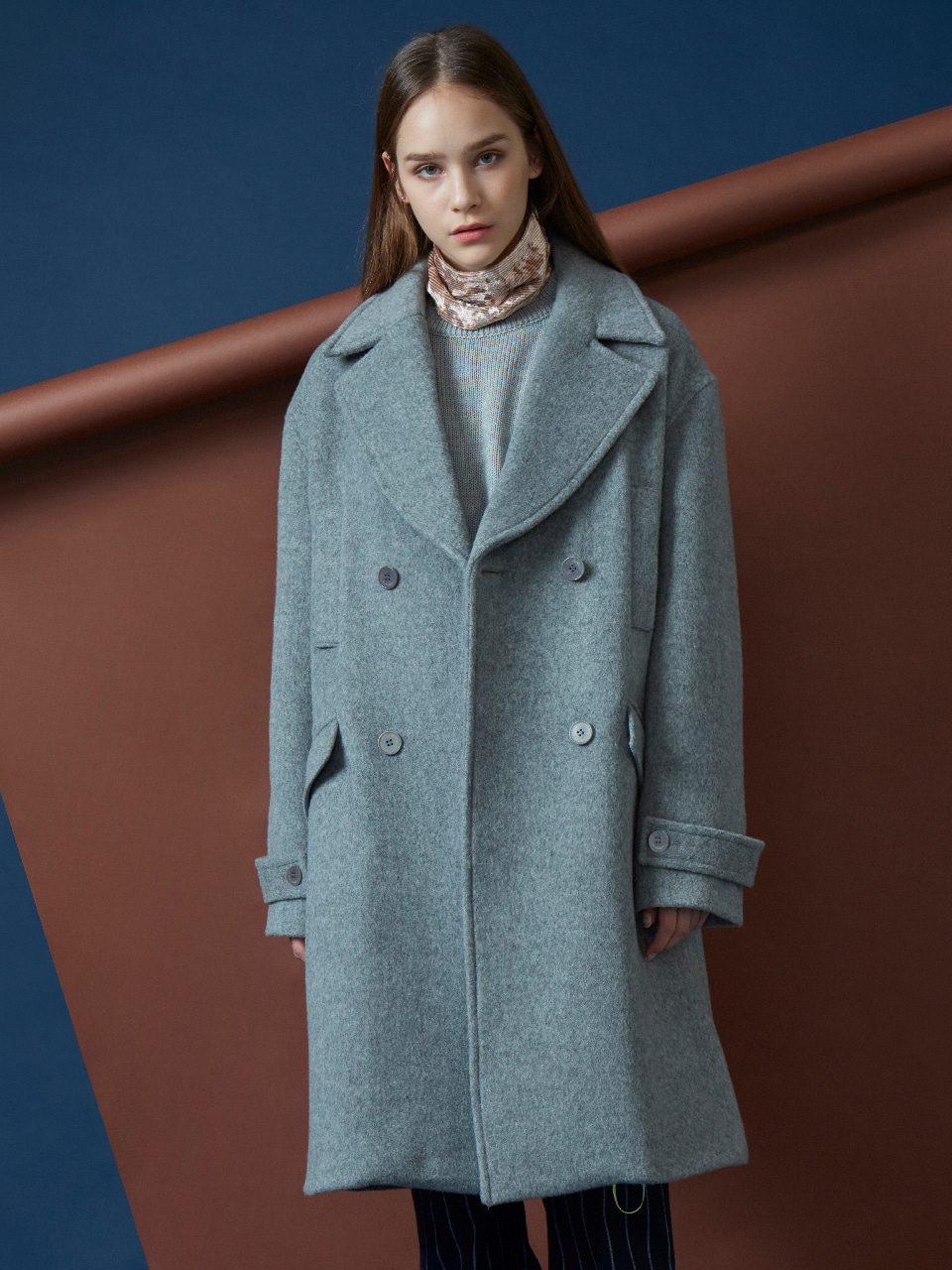 17FW FOREVER DOUBLE COAT_GREY