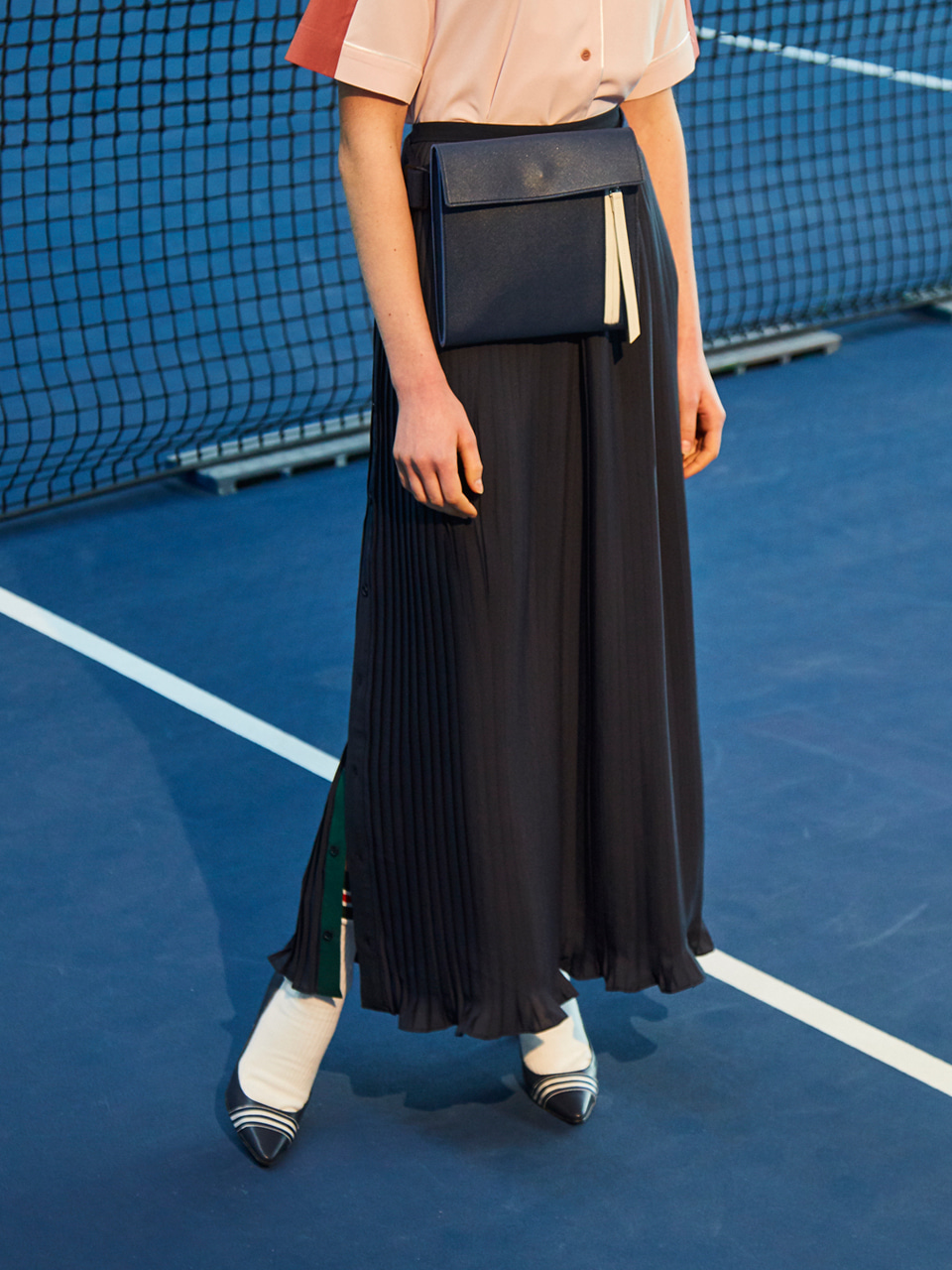 18SS LONG PLEATS SKIRT