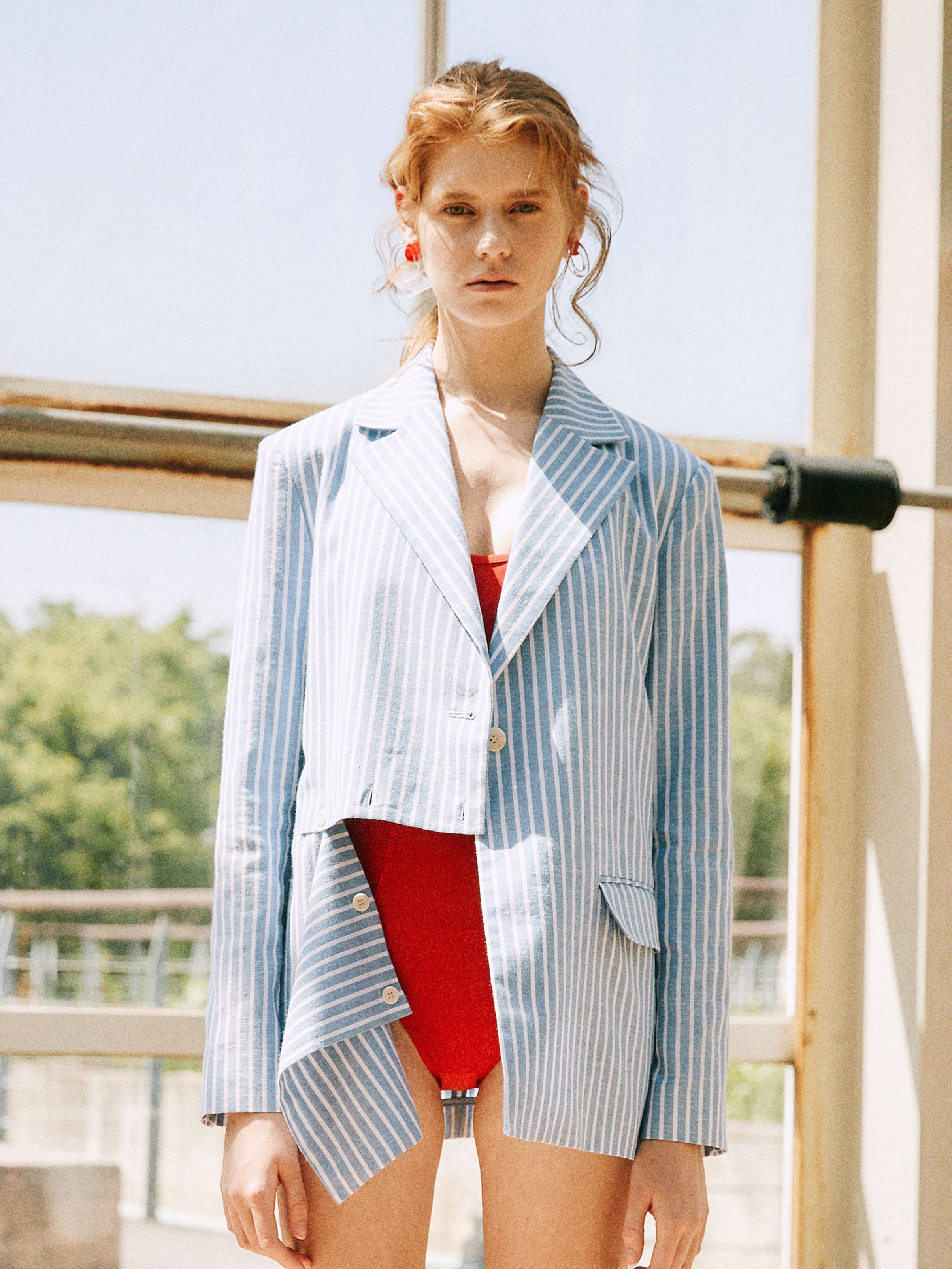 18SS STRIPE CUTTING JACKET