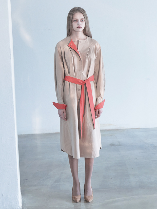 18FW COLOR DRESS_BEIGE