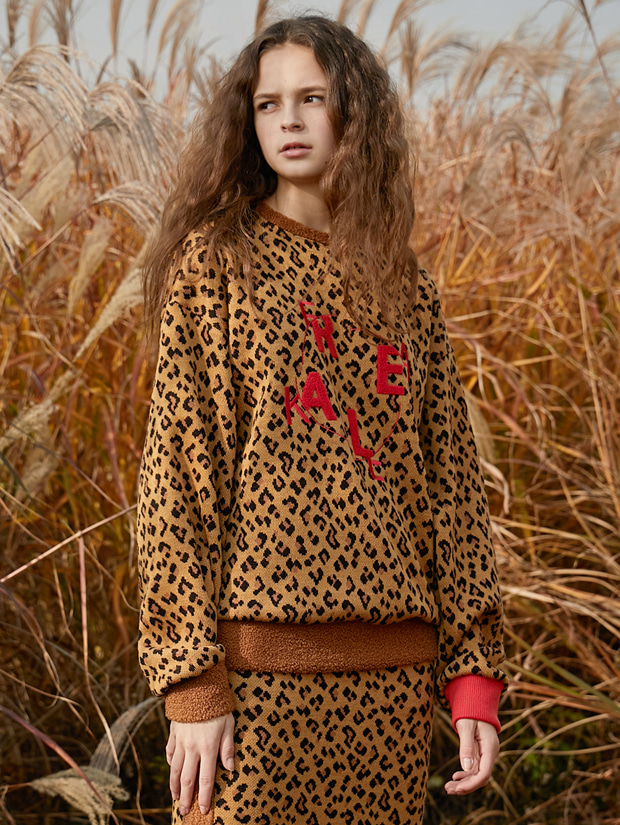 18FW OVERSIZE SWEAT SHIRT_LEOPARD