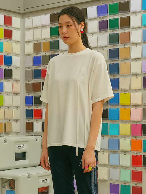 19SS RIBBON DROP T-SHIRT_WHITE