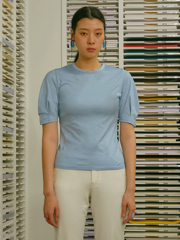 19SS VOLUME SLEEVE T-SHIRT_BLUE
