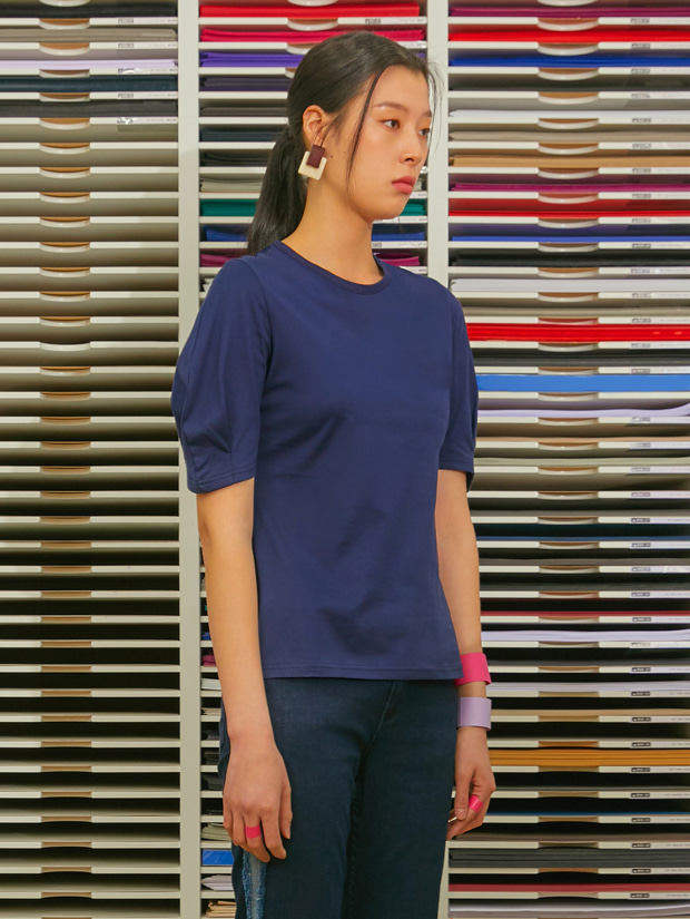 19SS VOLUME SLEEVE T-SHIRT_NAVY