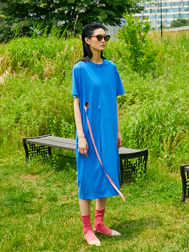 19SS OK JERSEY DRESS_BLUE
