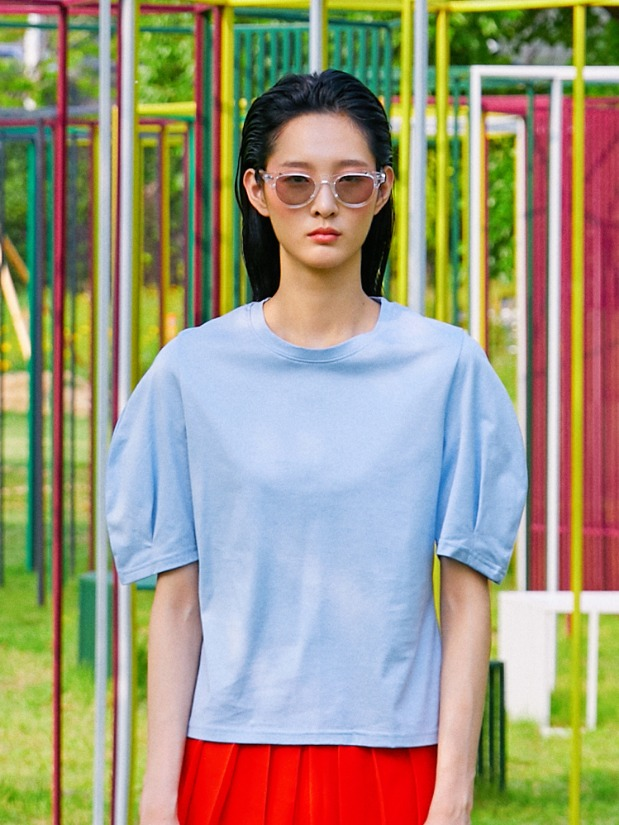 19SS VOLUME SLEEVE T-SHIRT_BLUE2