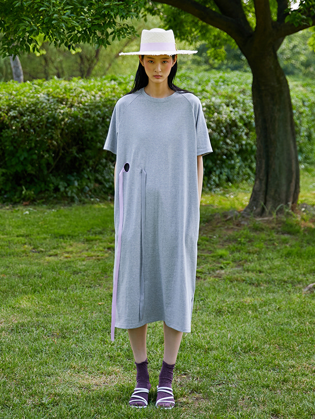 19SS OK JERSEY DRESS_GRAY