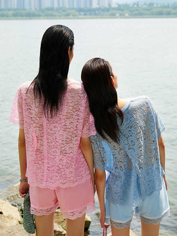 19SS LACE HALF PANTS_PINK
