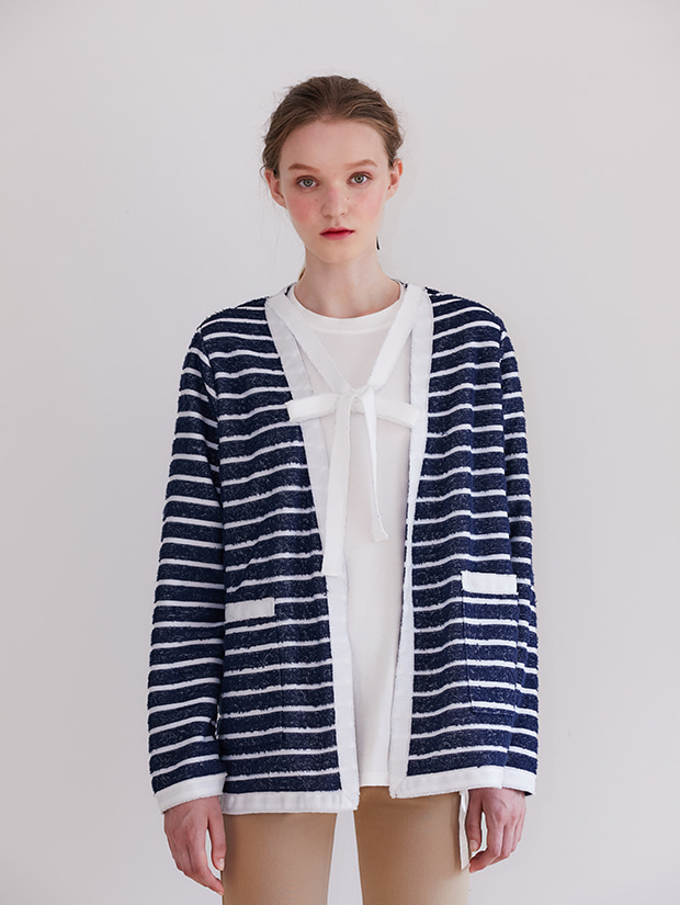 19FW PRE-FALL TERRY CARDIGAN JACKET_NAVY