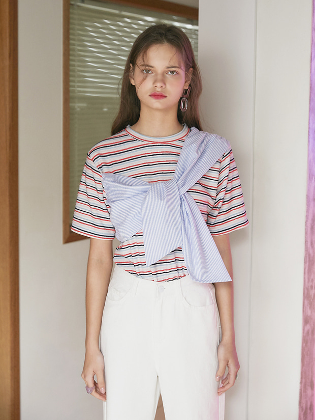 20SS 1ST STRIPE COLOR T-SHIRT RED