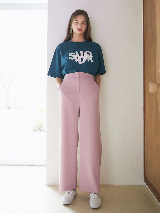 20SS 1ST BACK TUCK PANTS PINK