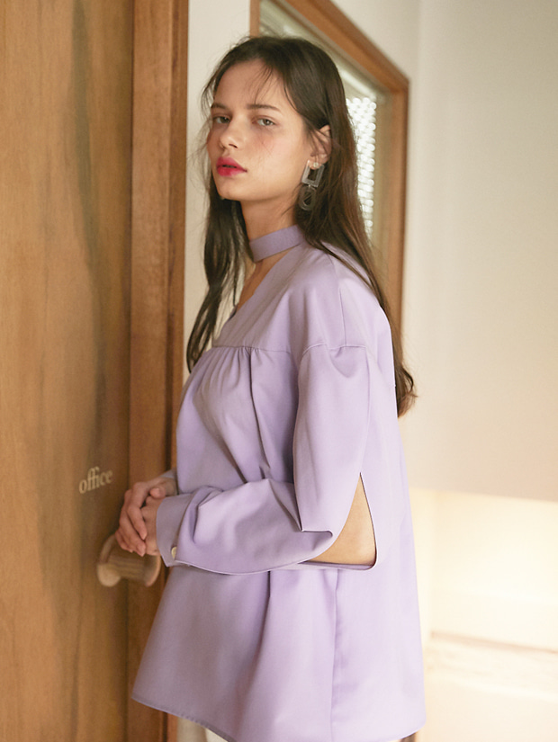 20SS 1ST CHOCKER BLOUSE PURPLE