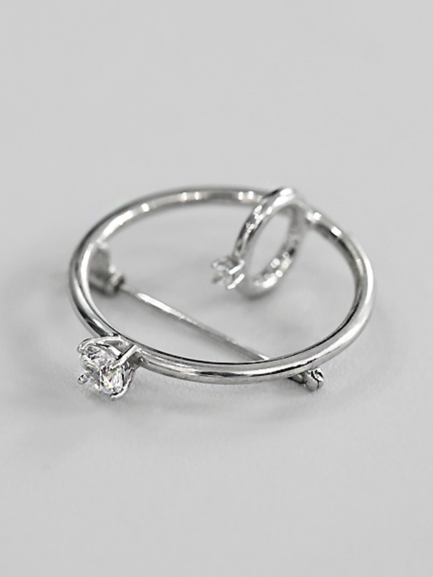 THE STUDIO K RING BROOCH (silver925)