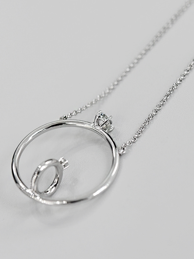 THE STUDIO K RING NECKLACE (silver925)