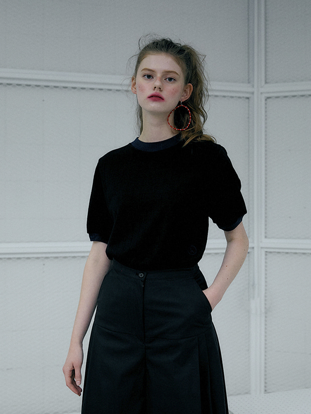 20SS capsule LUCKY summer knit_BLACK
