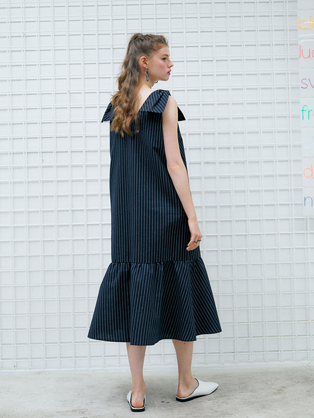 17일 순차배송 20SS capsule FRESH dress_NAVY