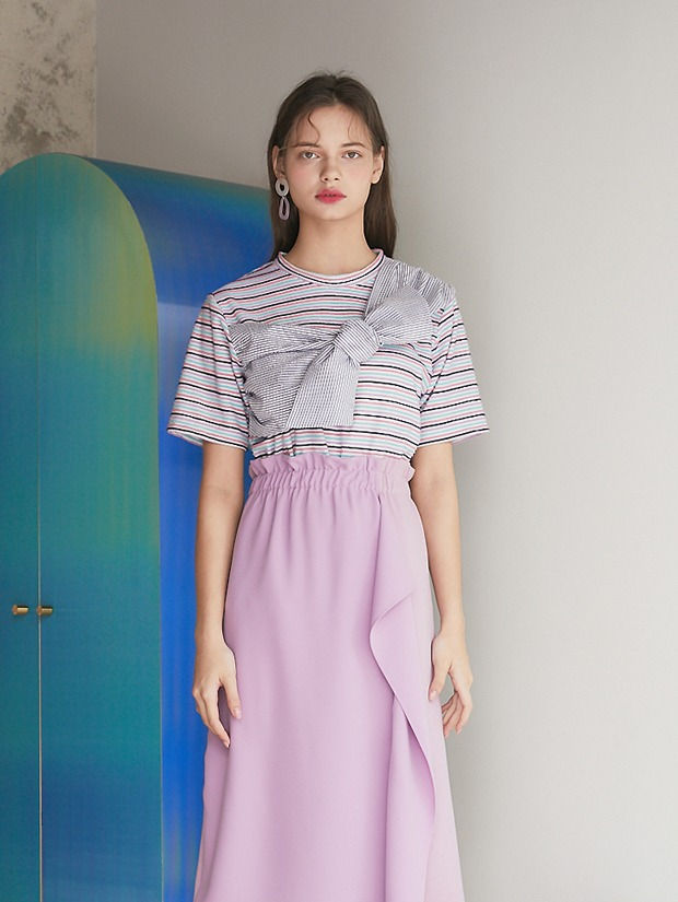 20SS 1ST STRIPE COLOR T-SHIRT PINK