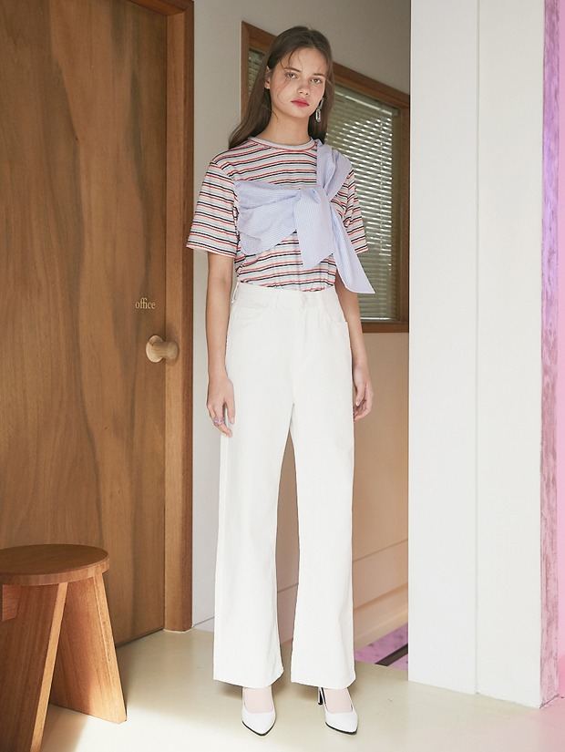 20SS 1ST STRAIGHT PASTEL DENIM PANTS WHITE