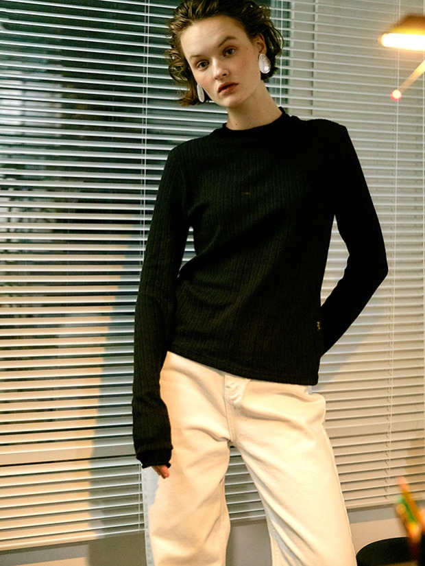 20FW BUREAU KNIT TOP_BLACK