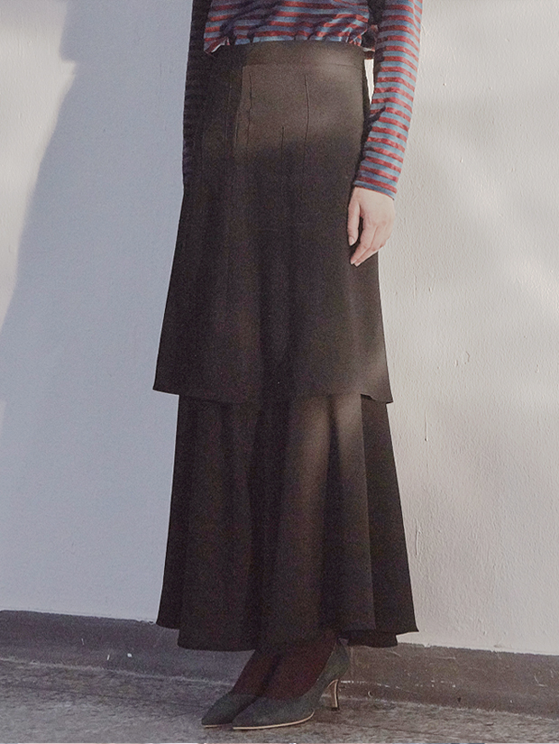 18FW TIERED SKIRT